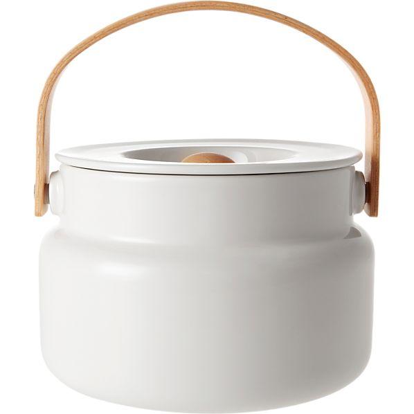 Marimekko Oiva White Serving Pot