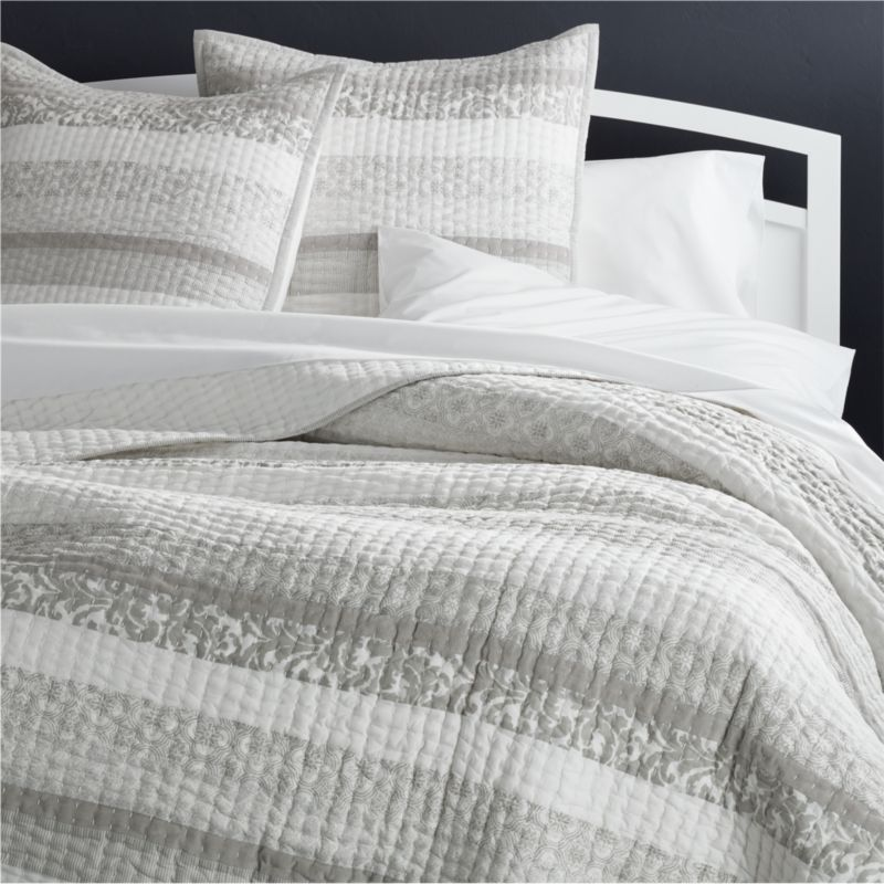 Oleana Quilts and Pillow Shams. Quilts   Coverlets  King  Queen  Full   Twin   Crate and Barrel