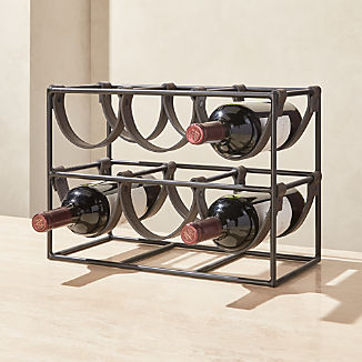 Oliver Faux Leather 6-Bottle Wine Rack