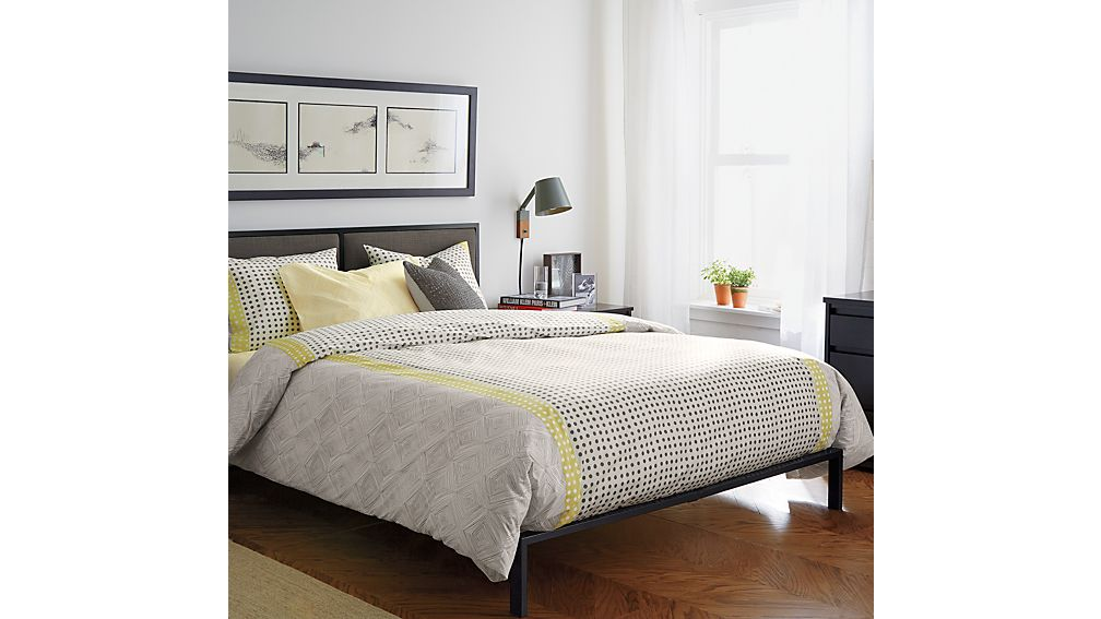 oliver king bed | crate and barrel