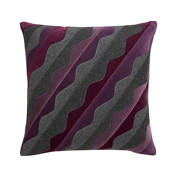 "Oliveri Purple 18"" Pillow"