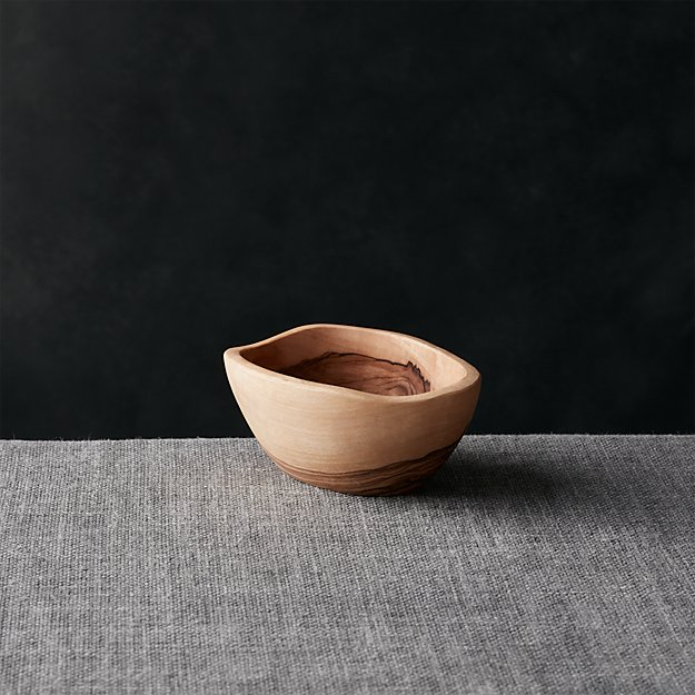 """Olivewood 4.72""""x3.5"""" Nibble Bowl - Image 1 of 13"""