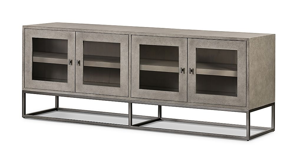 Olivia Faux Shagreen Media Console - Image 1 of 11