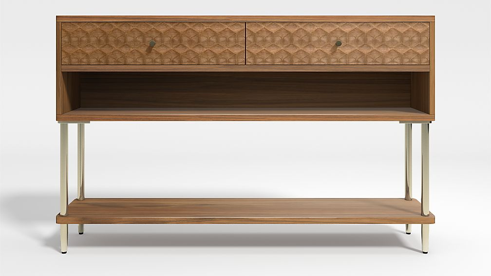 Olsen Small Console Table with Storage - Image 1 of 6