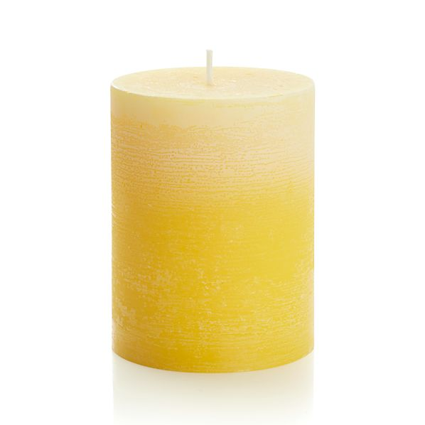 "Ombre Yellow 3""x4"" Pillar Candle"
