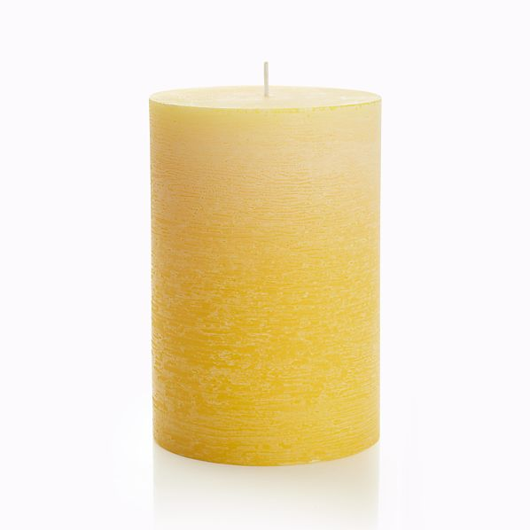 """Ombre Yellow 4""""x6"""" Pillar Candle"""