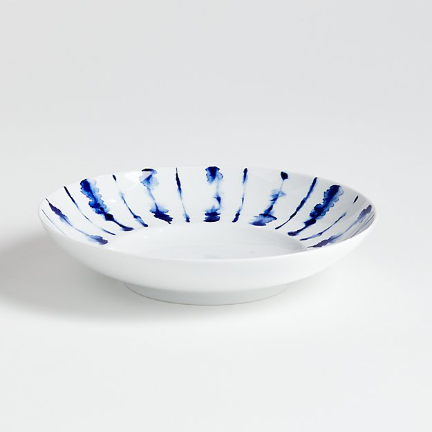 Omri Blue and White Low Bowl - Image 1 of 4