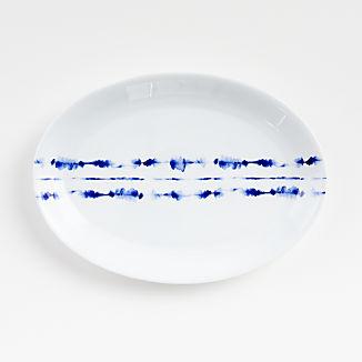 Omri Blue and White Oval Platter