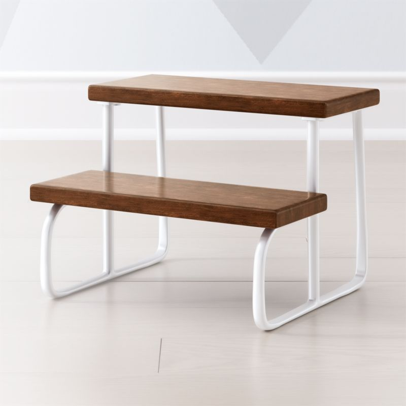 White Wooden Step Stool Reviews Crate And Barrel
