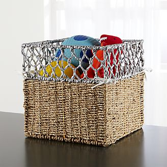 Beau Open Weave Storage Bin Kids