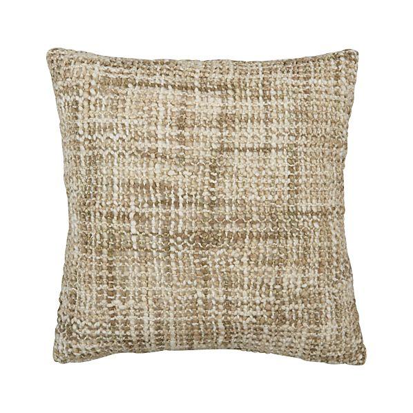 """Open Weave Neutral 18"""" Pillow"""