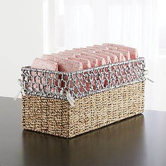 Open Weave Small Changing Table Basket