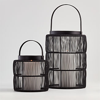 Ora Black Wire Lanterns