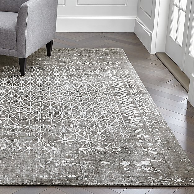 Orana Grey Print Rug Crate And Barrel