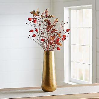 Orange Lantern Faux Flower Arrangement