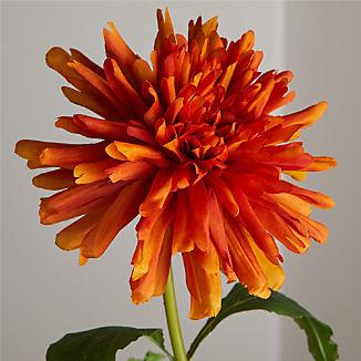 Faux Orange Spider Dahlia Stem