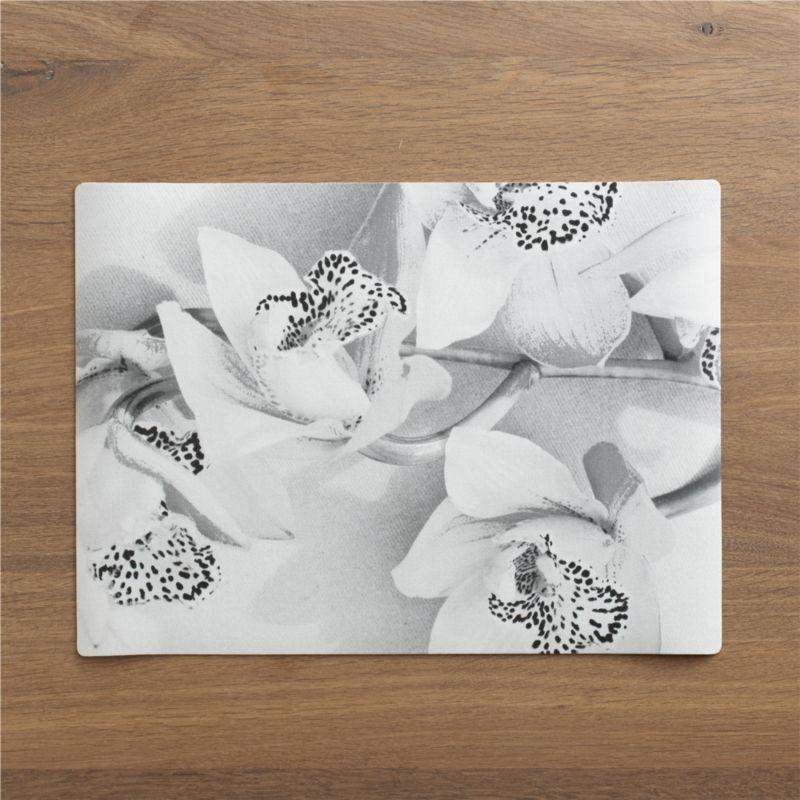 Photo-real orchids cast lifelike shadows on gallery-worthy placemats printed on textured, easy-care vinyl.<br /><br /><NEWTAG/><ul><li>100% PVC</li><li>Stain resistant</li><li>Wipe with damp cloth</li></ul>