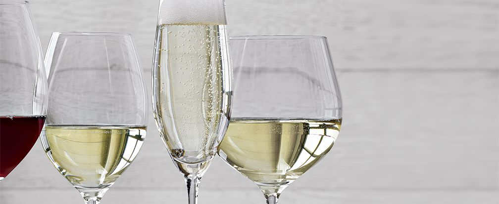 White Wine and Champagne Glasses