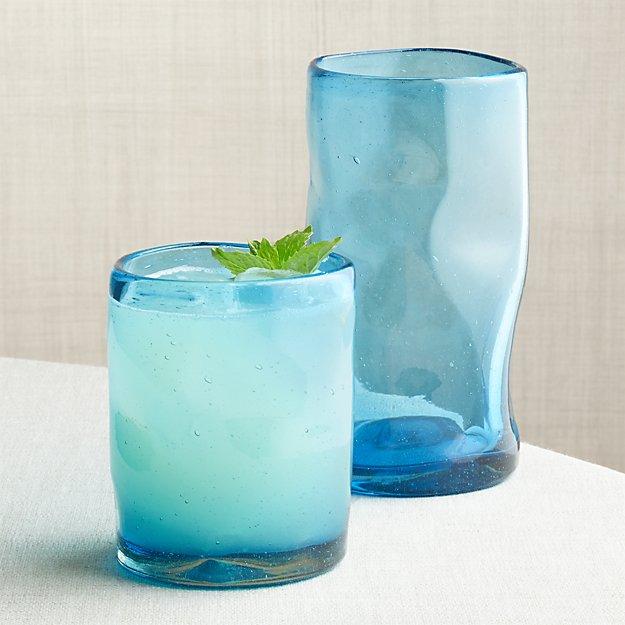 Organic Aqua Glasses - Image 1 of 4