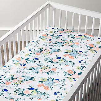 Organic Dutch Floral Crib Fitted Sheet