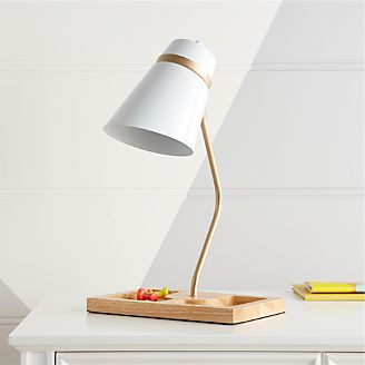 White Organizer Desk Lamp