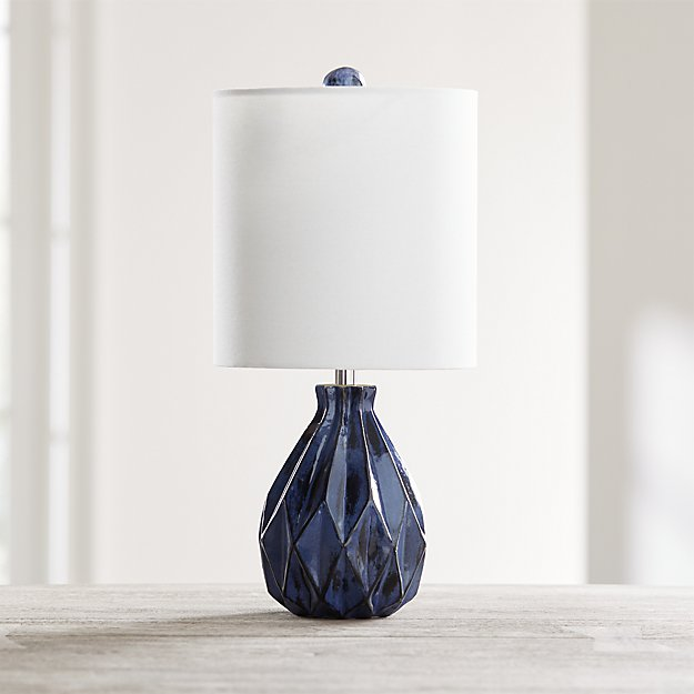 Origami Blue Ceramic Table Lamp - Image 1 of 5
