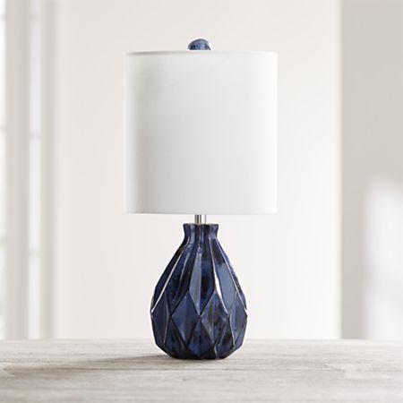 Origami Blue Ceramic Table Lamp