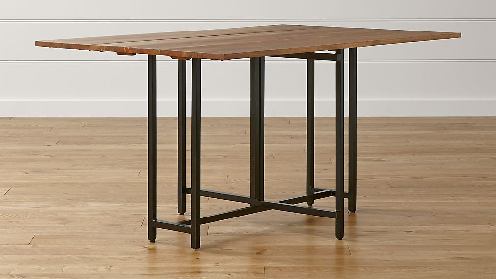 Origami Drop Leaf Rectangular Dining Table Crate and Barrel : OrigamiDropLeafTableSHS1516x9 from crateandbarrel.com size 1008 x 567 jpeg 65kB