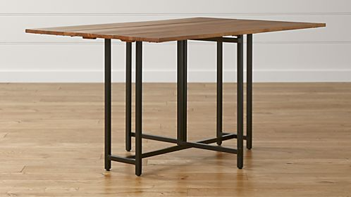 Shop dining room kitchen tables crate and barrel origami drop leaf rectangular dining table workwithnaturefo