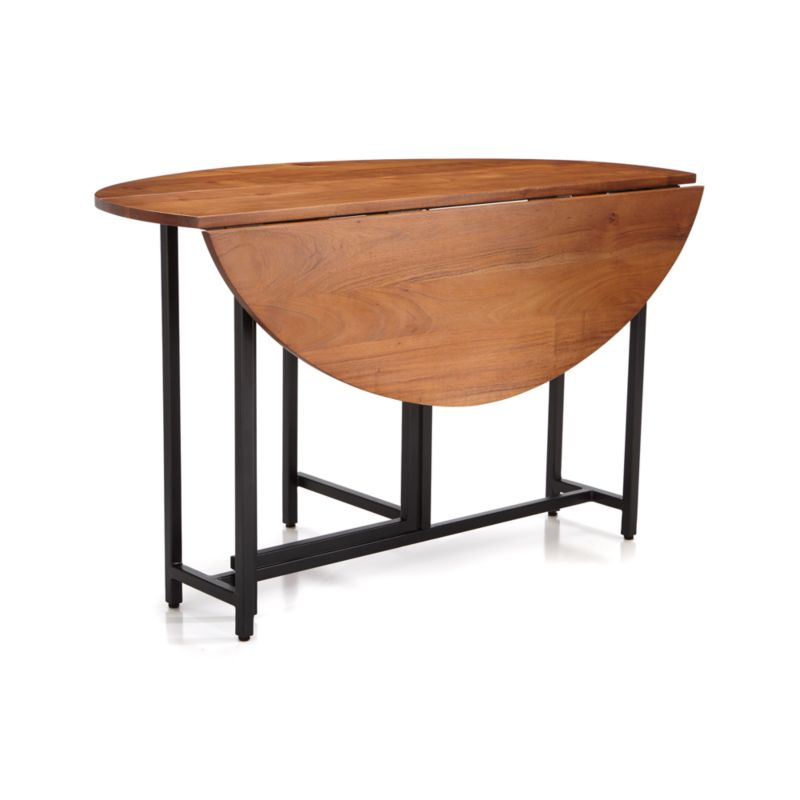 A Drop Leaf Table Is A Kitchen Or Dining Table With A Fixed Center Tabletop  Segment And Hinged Side Segments That Can Either Be Propped Up For A  Full Size ...