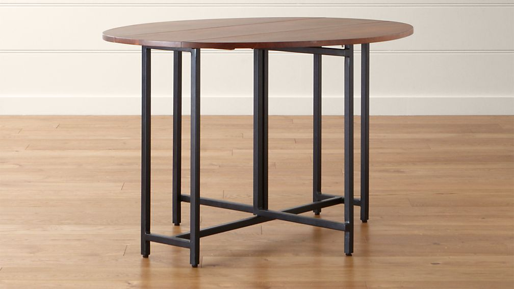 Charming Origami Drop Leaf Oval Dining Table ...
