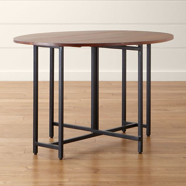 Origami Drop Leaf Oval Dining Table