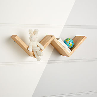 Origami Natural Wall Shelf