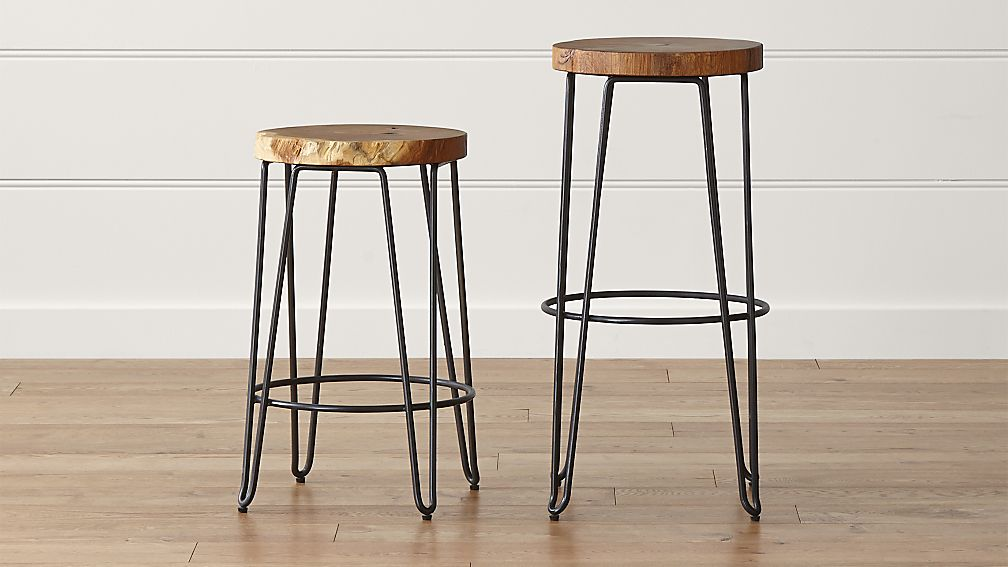 Backless Bar Stools ~ Origin backless bar stools crate and barrel
