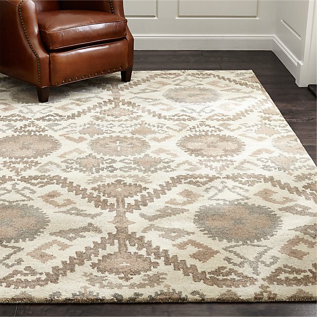 Orissa Neutral Geometric Rug