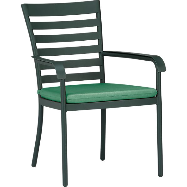Orleans Dining Chair with Sunbrella ® Bottle Green Cushion