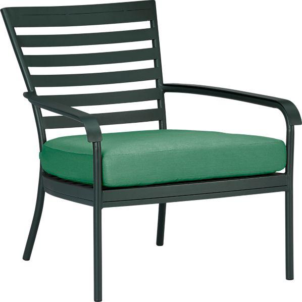 Orleans Lounge Chair with Sunbrella ® Bottle Green Cushion
