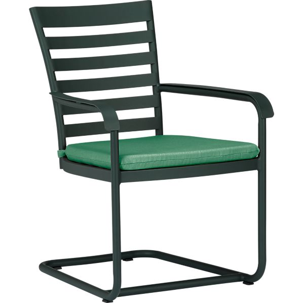 Orleans Spring Dining Chair with Sunbrella ® Bottle Green Cushion
