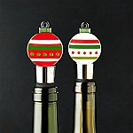 Ornament Bottle Stoppers, Set of 2