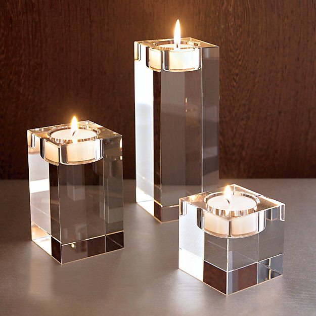 Oslo Large Crystal Tea Light Candle Holder Crate And Barrel