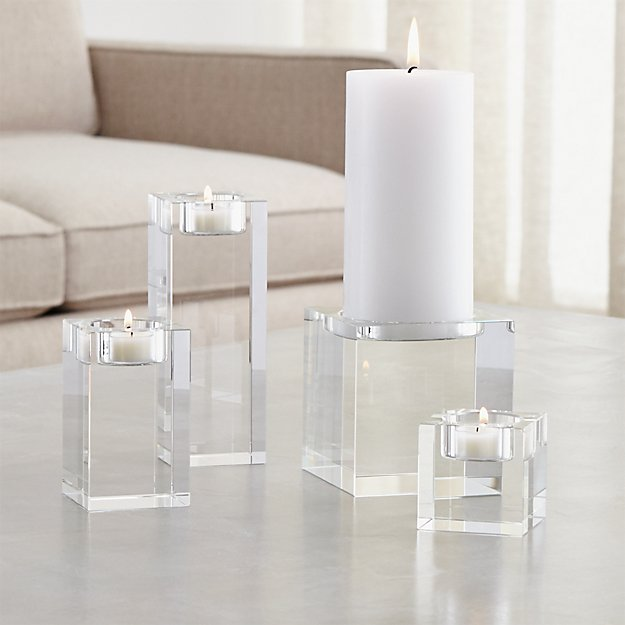 Oslo Crystal Candle Holders - Image 1 of 13
