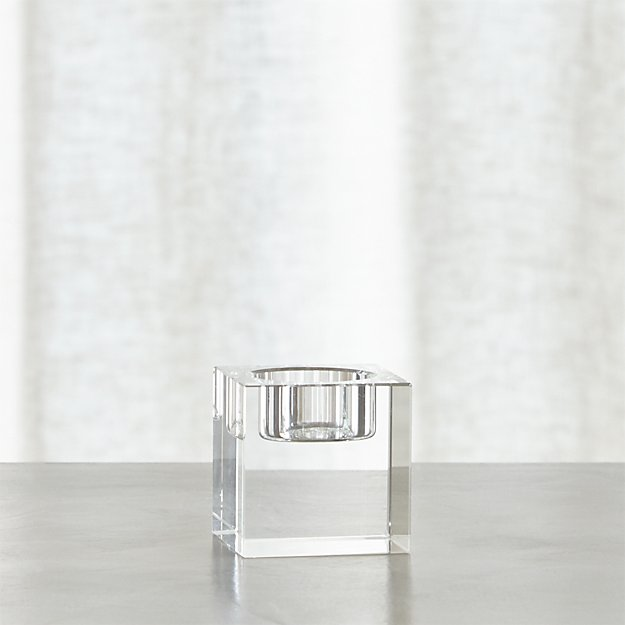 Oslo Small Crystal Tea Light Candle Holder