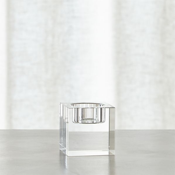 Oslo Small Crystal Tea Light Candle Holder