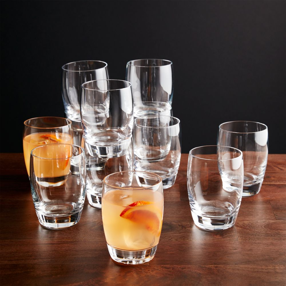 Set of 12 Otis Double Old-Fashioned Glasses - Crate and Barrel