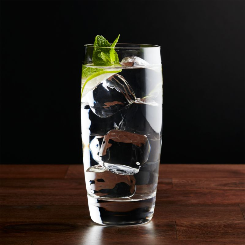 Stock the bar with classic Italian entertainers priced for every day, styled for every occasion… formal to casual. The dishwasher-safe highball glass curves gracefully to thick, clear shams.<br /><br /><NEWTAG/><ul><li>Clear glass</li><li>19 oz.</li><li>Casual everyday glass at an exceptional value</li><li>Dishwasher-safe</li><li>Made in Italy</li></ul>