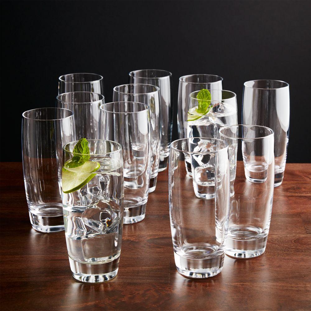 Set of 12 Otis Highball Glasses - Crate and Barrel