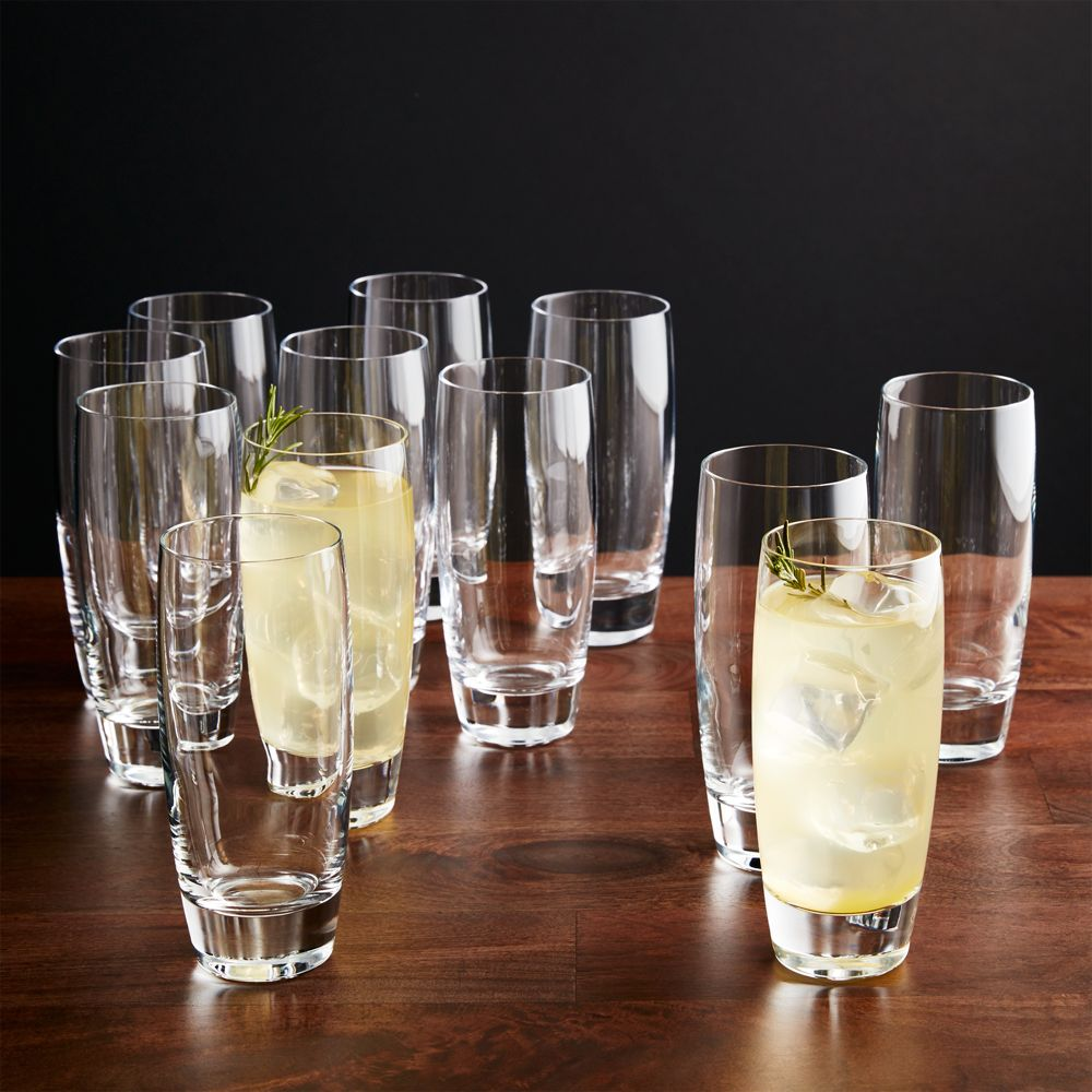 Set of 12 Otis Tall Drink Glasses - Crate and Barrel