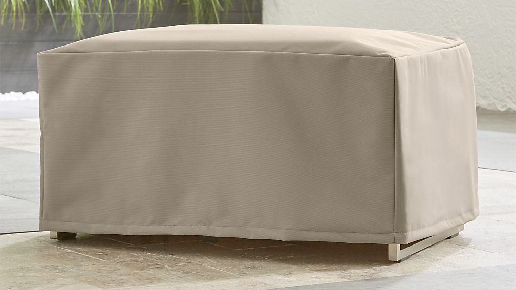 Outdoor Ottoman Cover ... - Outdoor Ottoman Cover Crate And Barrel