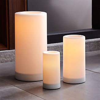 Indoor/Outdoor Pillar Candles with Timer