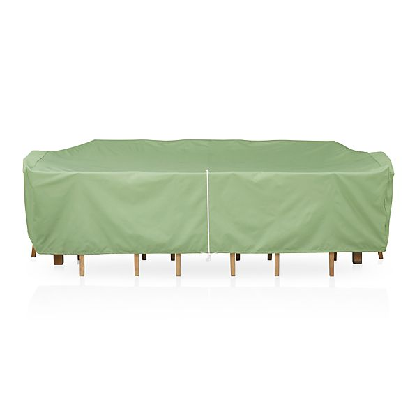 Large Rectangular Table/Chairs Outdoor Furniture Cover with Umbrella Option